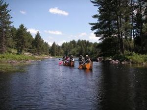 50-Miler Award - Boy Scouts earning their 50-Miler Award in the Boundary Waters Canoe Area Wilderness in Minnesota