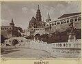 Budapest, a Halászbástya, a Schulek lépcső és Hunyadi János szobra. - Fortepan 82651.jpg