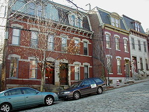North Side (Pittsburgh) - Row houses in the Mexican War Streets
