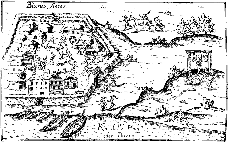 Buenos Aires shortly after its foundation 1536