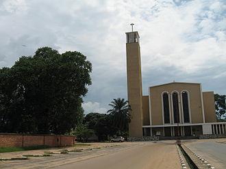 Regina Mundi Cathedral, Bujumbura - Image: Bujumbura Cathedral