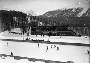 St. Moritz Olympic Ice Rink - The stadium in 1928