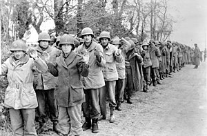 Prisoner of war - American prisoners captured by the Wehrmacht in the Ardennes in December 1944