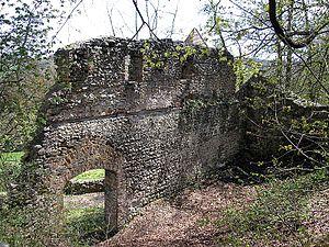 Kaltenburg Castle - Southwest wall of the second castle
