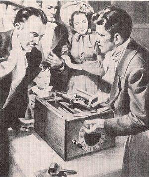 Typographer (typewriter) - Burt demonstrating his typewriter