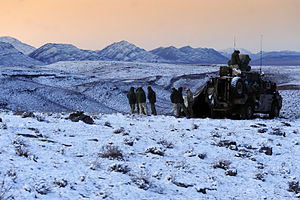1st Commando Regiment (Australia) - Commandos in Afghanistan during winter in rotation eleven of the SOTG with Bushmaster vehicle