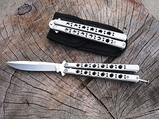 Butterfly knife Type of folding knife