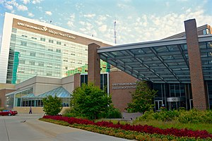 Butterworth Hospital (Michigan) - Entrance to Butterworth Hospital.