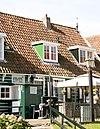 foto van Houten huis, daklijst op consoles