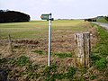 Byway sign near Westcot Down, Oxfordshire - geograph.org.uk - 362101.jpg