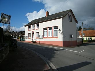 Caours - The town hall in Caours
