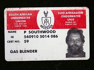 Gas blending for scuba diving - CMAS-ISA Gas Blender certification card