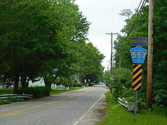 County Route 557 (New Jersey) - CR 557 at Tuckahoe station