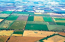 New South Wales-Agriculture-CSIRO ScienceImage 4704 Aerial view of mixed crops at Coolamon NSW 1999
