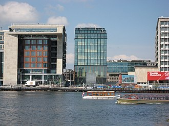 Oosterdokseiland - Oosterdokseiland with the Amsterdam Central Library (left) and Amsterdam Conservatory (middle)