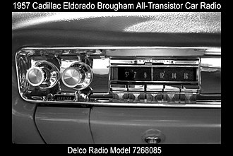 Cadillac - Cadillac Eldoradio Brougham all-transistor car radio-1957 dash