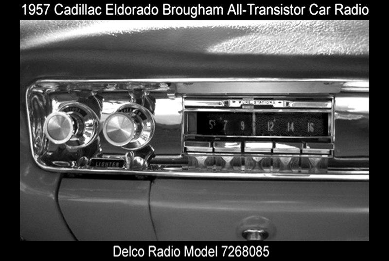 Cadillac Eldoradio Brougham all-transistor car radio-1957 dash