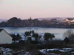 Carraroe - Caladh Thadhg lake frozen 25 December 2010