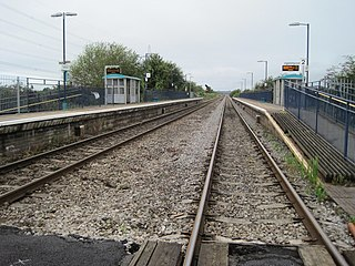 Caldicot railway station Station in Monmouthshire, Wales