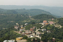 A view of Çamaş town