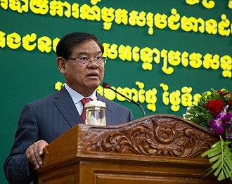 Sar Kheng - Image: Cambodian Interior Minister Sar Kheng