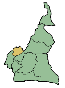 Vị trí của Northwest Region within Cameroon