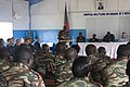 Cameroon army Maj. Fabian Fouda, center, gives opening remarks during a graduation ceremony marking the end of a tactical combat casualty care course as part of Africa Partnership Station (APS) 2012 while 120316-N-ZZ999-001.jpg