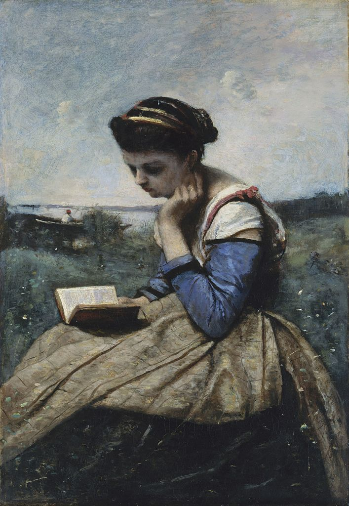 https://upload.wikimedia.org/wikipedia/commons/thumb/9/92/Camille_Corot_-_A_Woman_Reading_-_The_Metropolitan_Museum_of_Art.jpg/707px-Camille_Corot_-_A_Woman_Reading_-_The_Metropolitan_Museum_of_Art.jpg