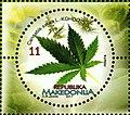Cannabis sativa. Stamp of Macedonia.jpg