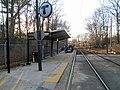 Capen Street inbound platform, March 2016.JPG
