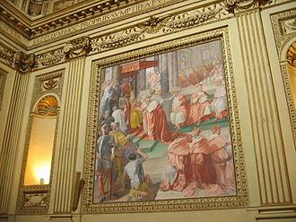 """Benedictus Deus (Pius IV) - Pope Pius IV promulgates the bull """"Benedictus Deus"""""""