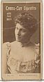 Card Number 32, Mrs. Langtry, from the Actors and Actresses series (N145-2) issued by Duke Sons & Co. to promote Cross Cut Cigarettes MET DP866417.jpg