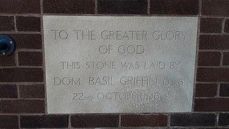 Cardinal Griffin Catholic College - Foundation stone