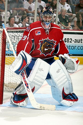 Carey Price - Price playing for the Hamilton Bulldogs during the 2007 Calder Cup finals
