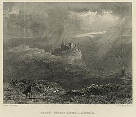 Carreg-Cennen Castle, Llandeilo: from a picture in the possession of Tom Taylor esq