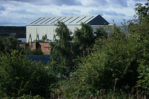 Carville power stations - The remaining station buildings in September 2011