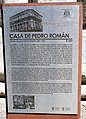 Casa de Pedro Román, placa.JPG