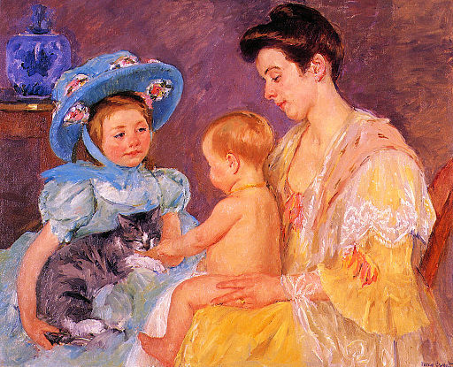 Cassatt Mary Children Playing with a Cat 1908