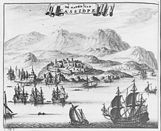 Kassiopi Castle - View of the castle in 1688
