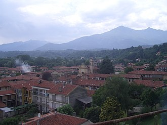 Castellamonte - Panorama with the church of S. Rocco.
