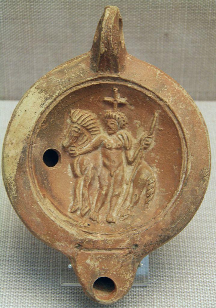 File Castor Or Pollux Terracotta Roman Oil Lamp 2nd