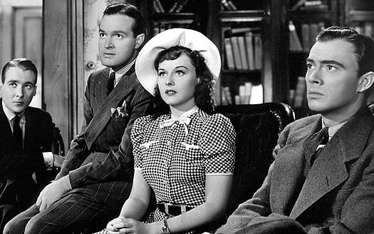 Douglass Montgomery, Bob Hope, Paulette Goddard and John Beal in The Cat and the Canary (1939) Cat-and-the-Canary-1939.jpg