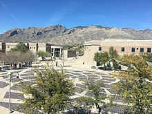 The student plaza at Catalina Foothills High School was inspired by the work of Michelangelo.