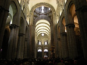 Olaf the Black - The mediaeval barrel-vaulted nave of the Cathedral of Santiago de Compostela. For over a thousand years the cathedral has been the destination of pilgrims making their way to the shrine of St James.