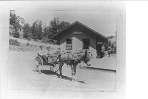 Cazadero, California - Depot in Cazadero, 1890
