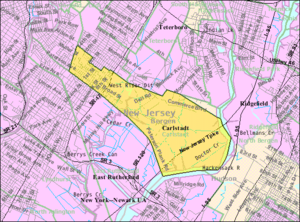 Carlstadt, New Jersey - Image: Census Bureau map of Carlstadt, New Jersey