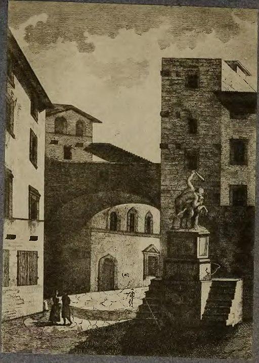 Cento vedute di Firenze antica, Firenze, presso Anton Giuseppe Pagani, 1789 (Acquaforte di Bernardino Rosaspina da disegno di G. Magazzari)