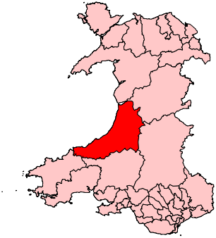 Ceredigion2007Constituency.svg