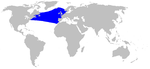 Sowerby's beaked whale range