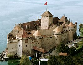 Chillon Castle in Veytaux municipality